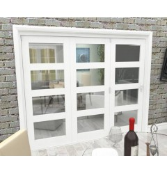 Internal White Clear Glazed Bifold Doors - 4 Light Image